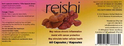New and upcoming products: Reishi 60 capsules