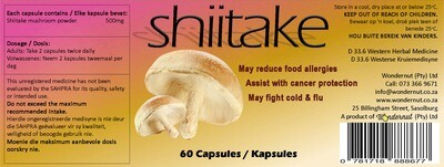 New and upcoming products: Shiitake Capsules