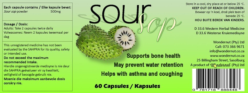 New and upcoming products: Soursop 60 capsules