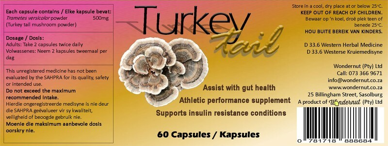 New and upcoming products: Turkey tail 60 capsules