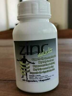 Zinc adults 60 Capsules