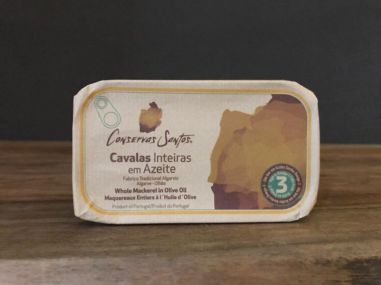Santos Whole Mackerel Olive Oil120g