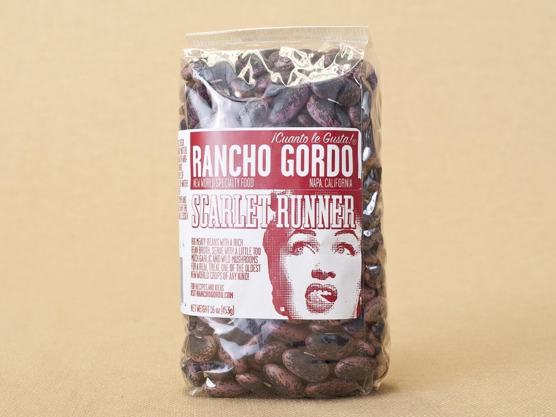 Rancho Gordo Scarlet Beans 16oz