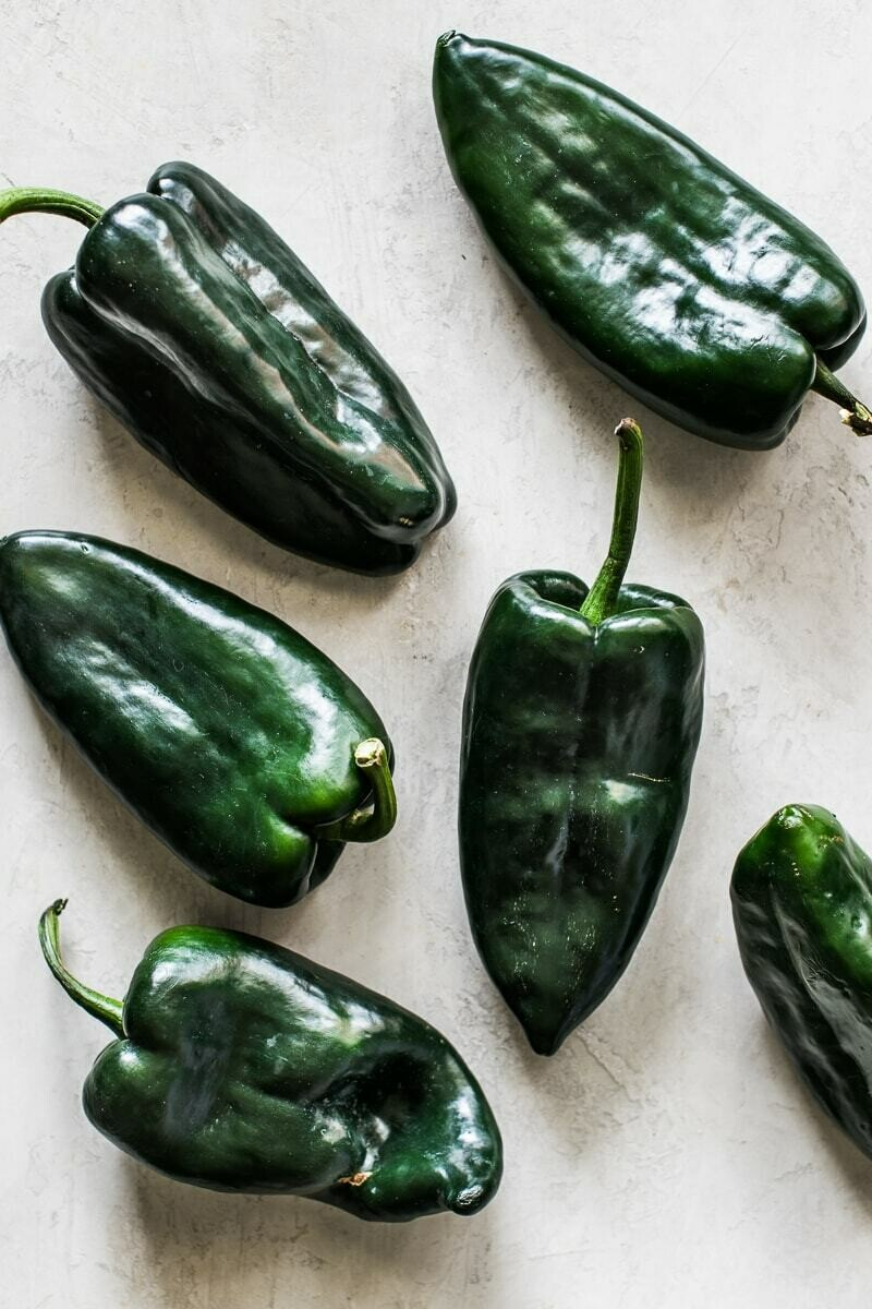 Peppers, Poblano  - 1/2 Pound