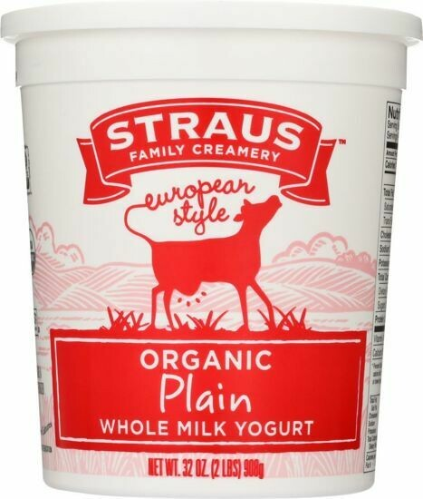 Yogurt, Straus Plain 32oz