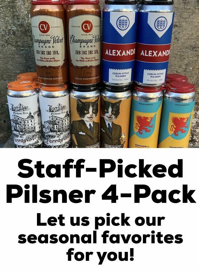 4-Pack Pilsner, Staff Pick