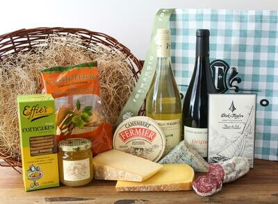 Gift Tote - Wine and Cheese, LG
