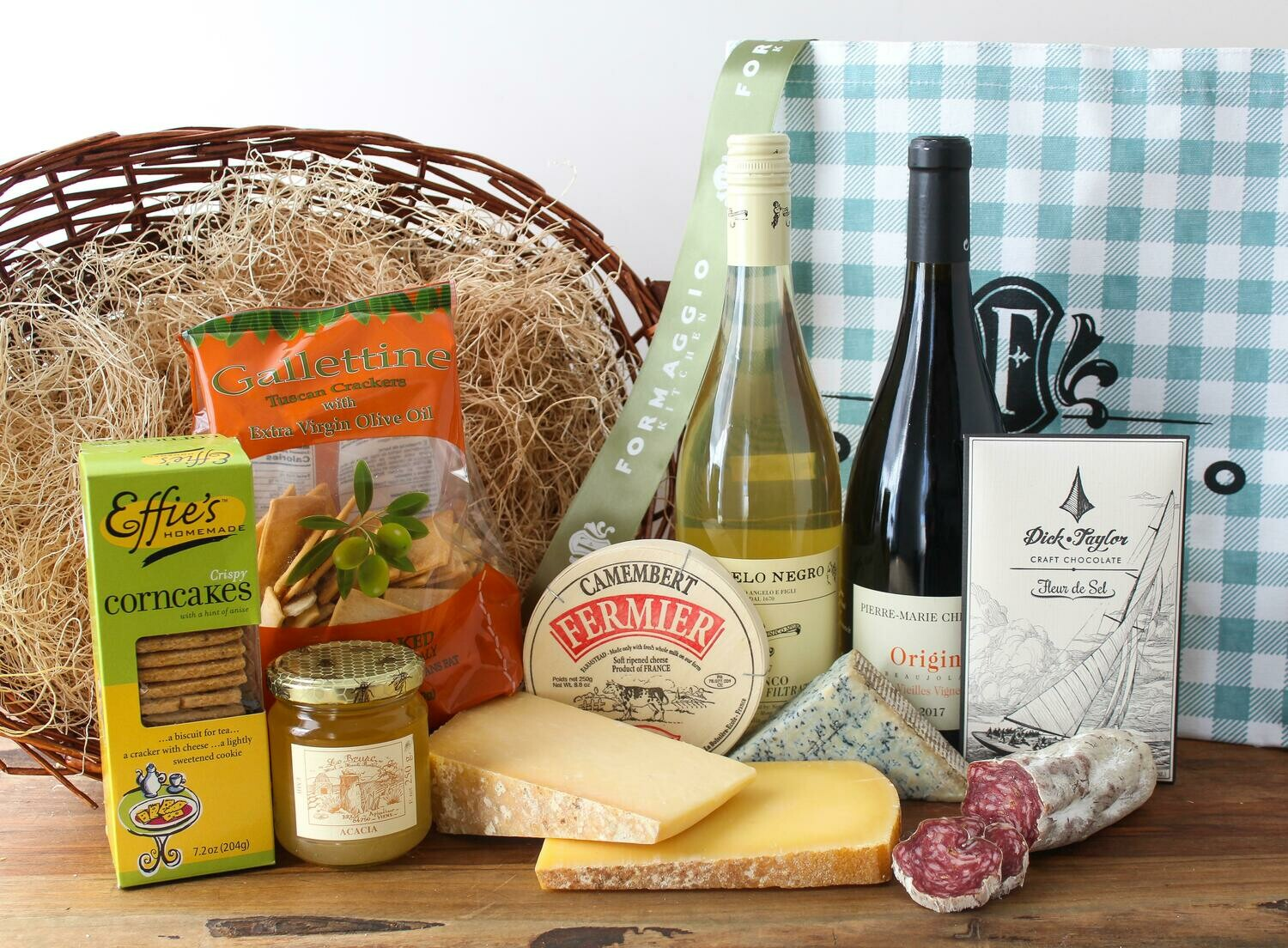 Gift Tote - Wine and Cheese, SM