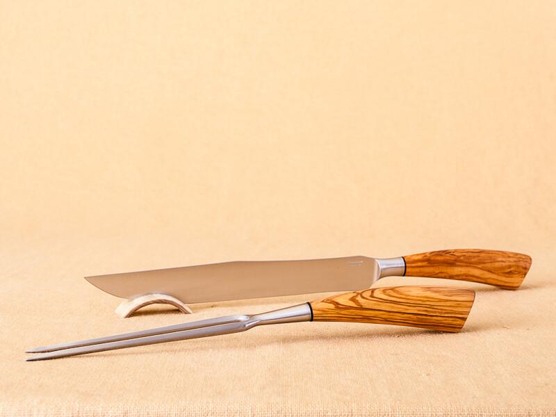 Saladini Carving Set- Olive
