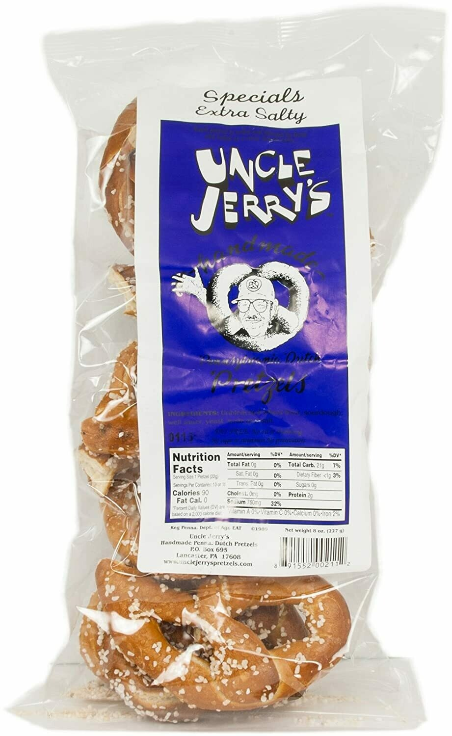 Uncle Jerry's Ex Salty Pretzel