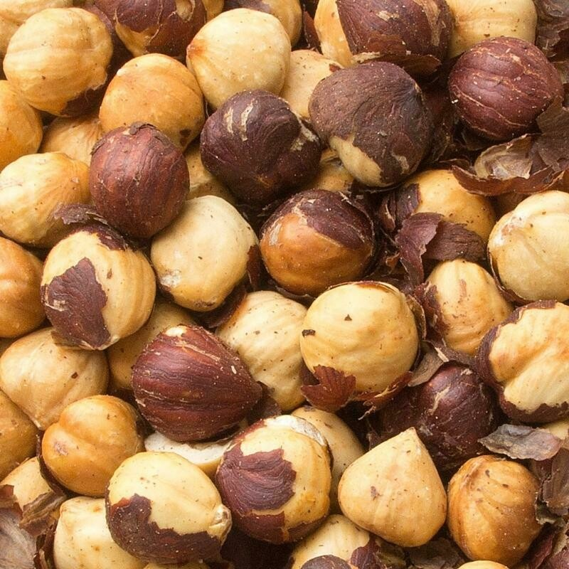Unsalted Hazelnuts - 1/2 Pound Container