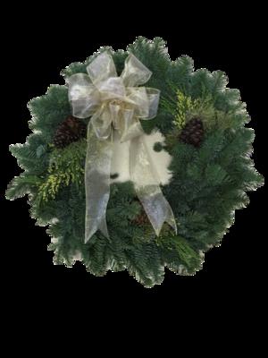 Gold Bow Wreath
