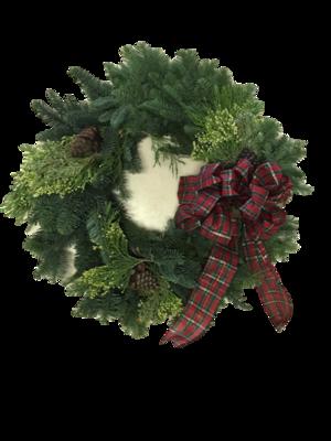 Plaid Bow Wreath