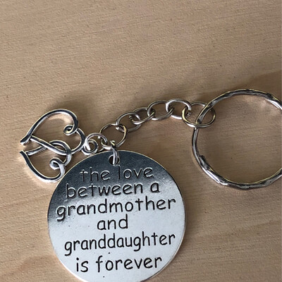Grandmother Granddaughter Keychain