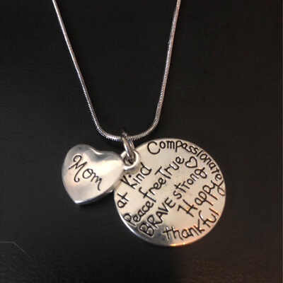Mom, Kind, Free, True Necklace