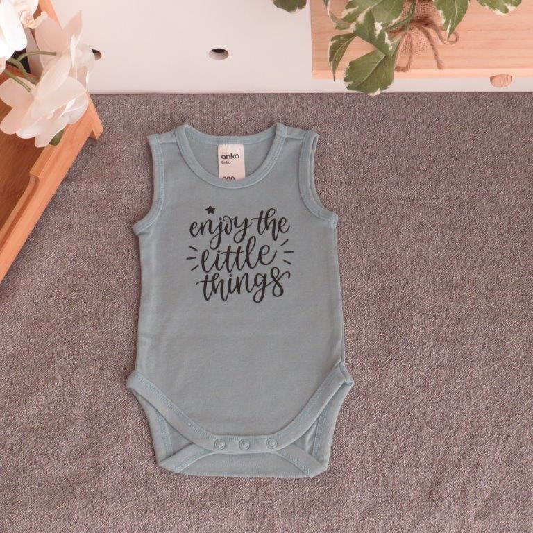 "0-3 Months Bodysuit ""Enjoy the little things"""
