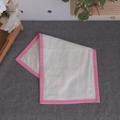 "Burp Cloth ""Waterproof with Pink"""