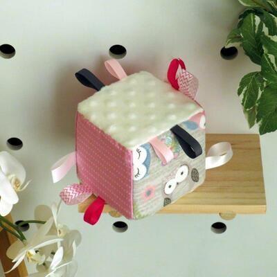 """Soft Toy Cube """"Grey Owl"""""""