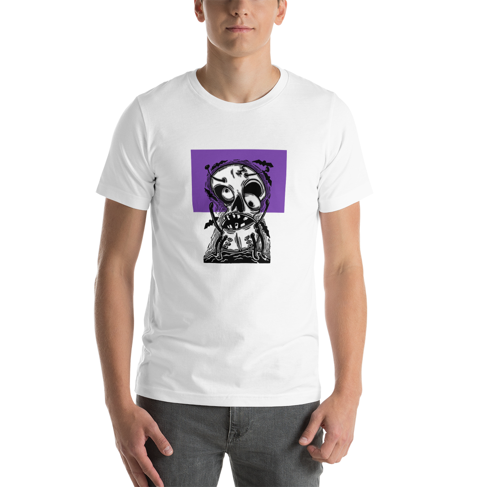Dancing Skull BS (Unisex Short Sleeve Artwork T-Shirt)