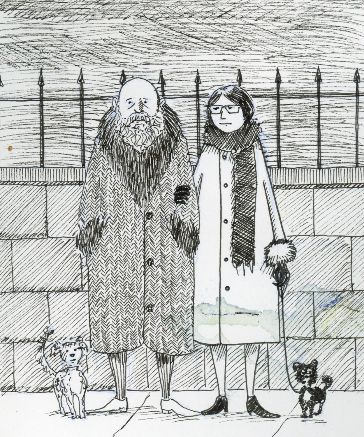 "5""x7"" Custom Edward Gorey Style Ink Drawing"