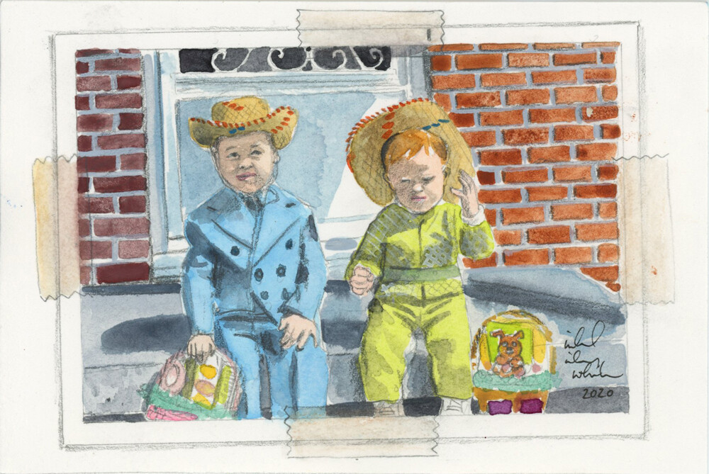 """Watercolor reproduction of a photograph 4""""x6"""""""