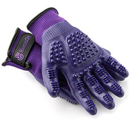 HandsOn Grooming Gloves (Purple)