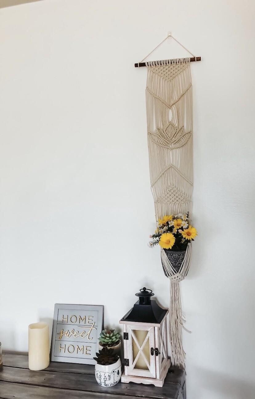 Lotus Flower Macrame Plant Hanger