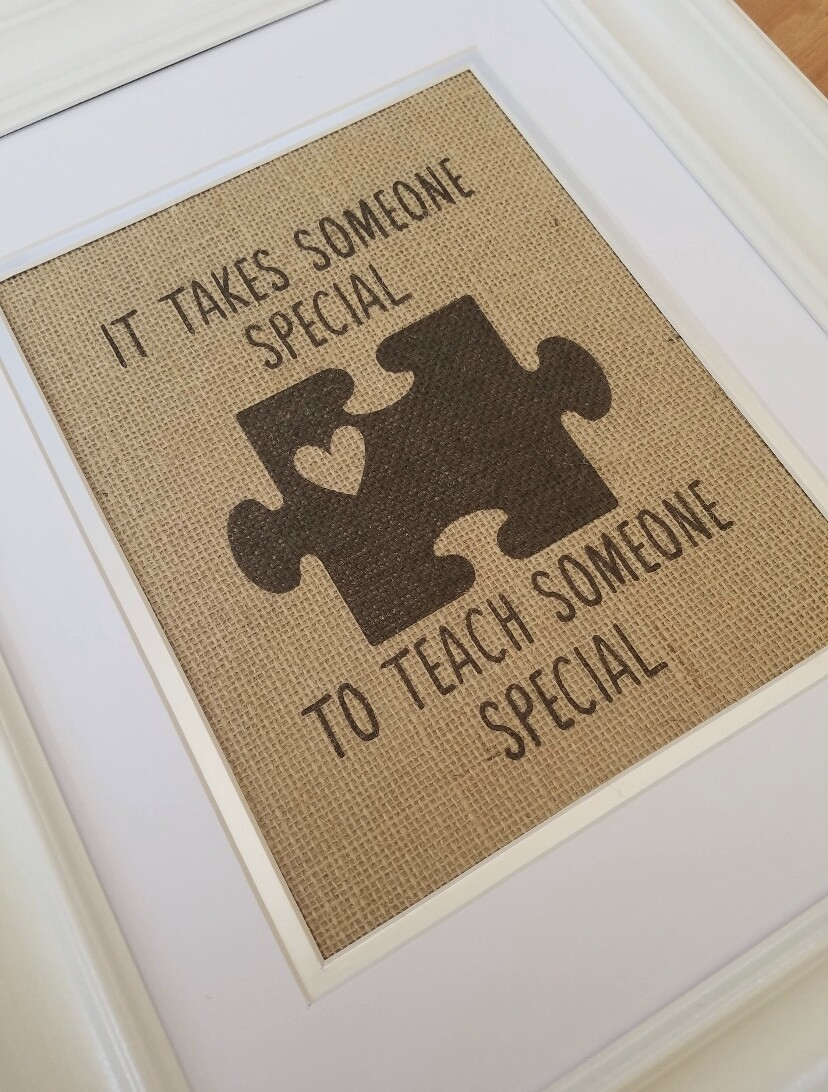Someone Special Puzzle Piece Framed Art