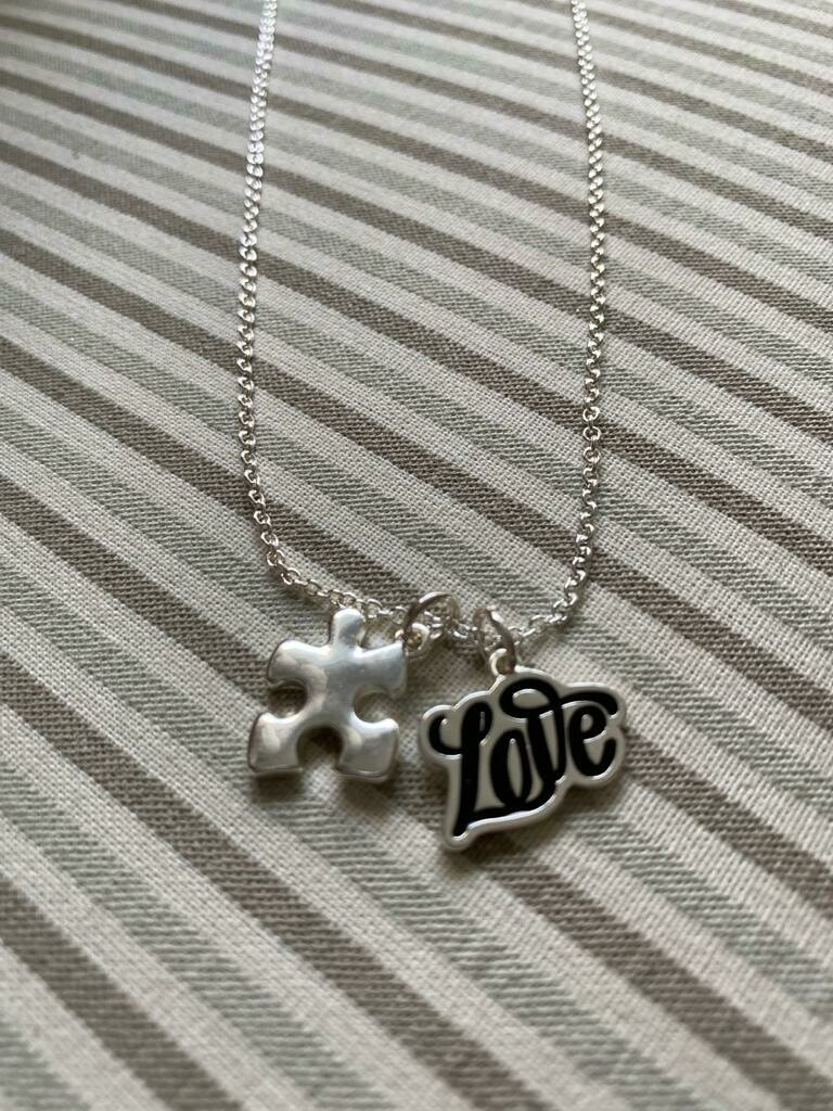 Autism Love Puzzle Piece Necklace