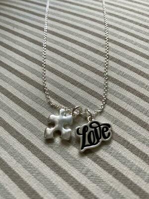 Autism Love Puzzle Piece Necklace
