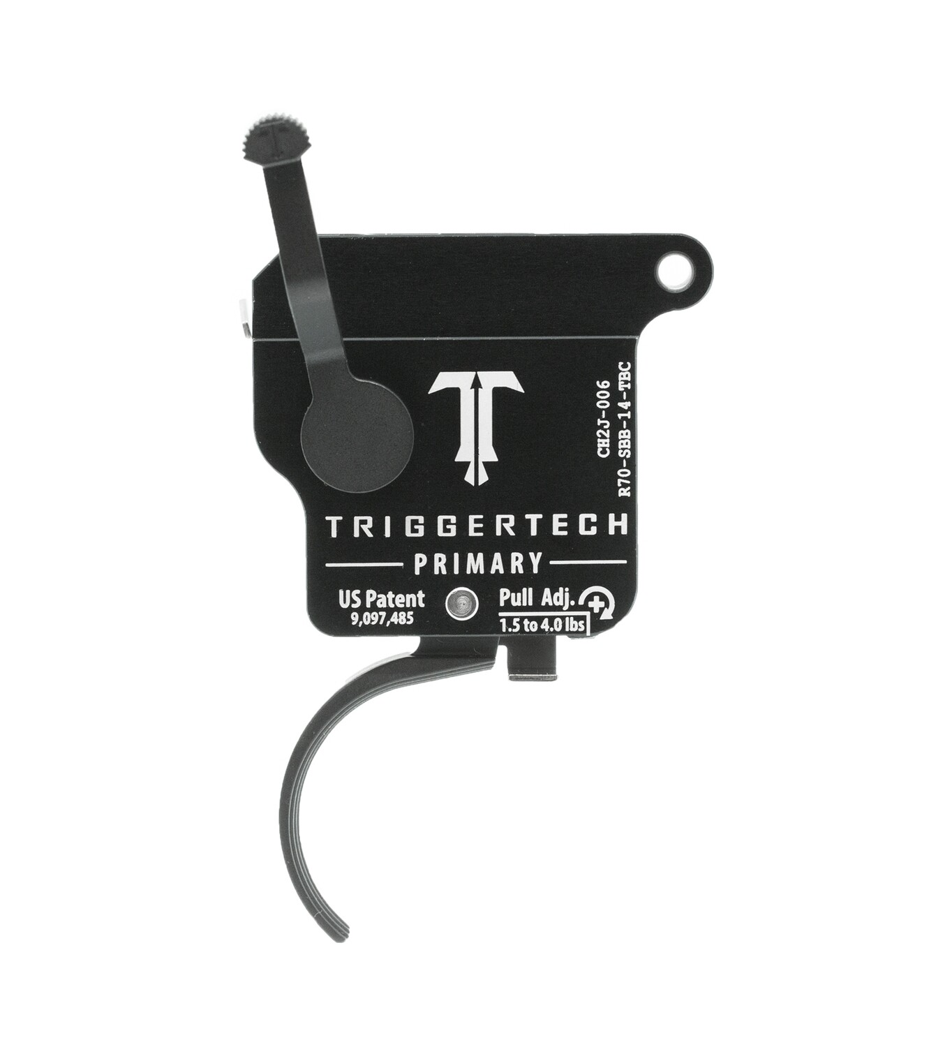 TriggerTech Primary Curved PVD 1.5-4lb Trigger for Remington 700 and Clones