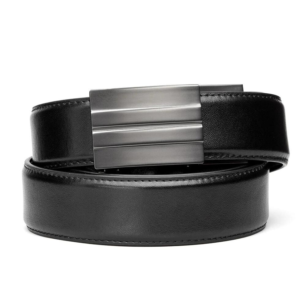"KORE X2 Gunmetal Black Leather Micro Adjust Belt Size 24""-44"""