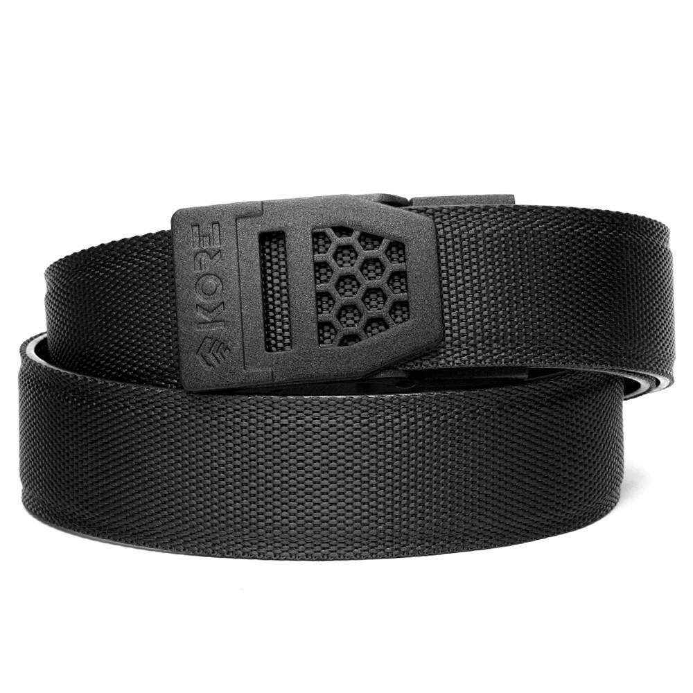 "KORE X6 Black Buckle Black Tactical Micro Adjust Belt Size 24""-44"""