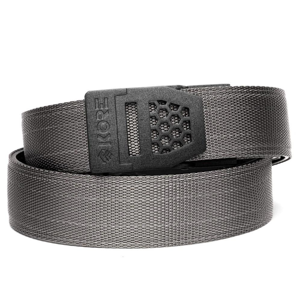 "KORE X6 Black Buckle Grey Tactical Micro Adjust Belt Size 24""-44"""