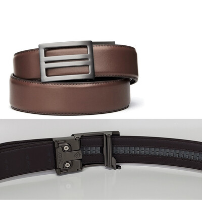 KORE X1 Gunmetal Brown Leather Micro Adjust Belt Size 24