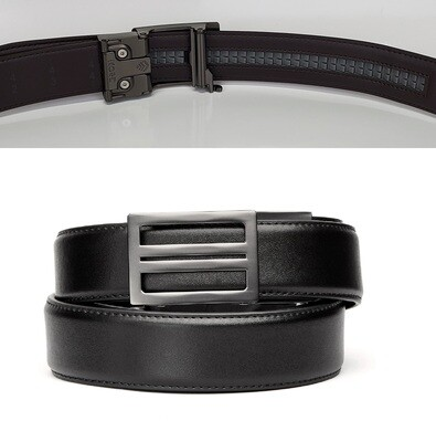 KORE X1 Gunmetal Black Leather Micro Adjust Belt Size 24