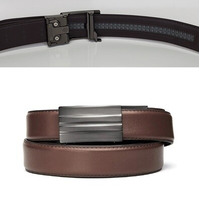 KORE X2 Gunmetal Brown Leather Micro Adjust Belt Size 24