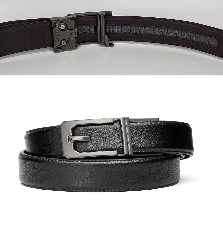 "KORE X3 Gunmetal Black Leather Micro Adjust Belt Size 24""-44"""