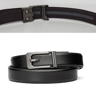 KORE X3 Gunmetal Black Leather Micro Adjust Belt Size 24