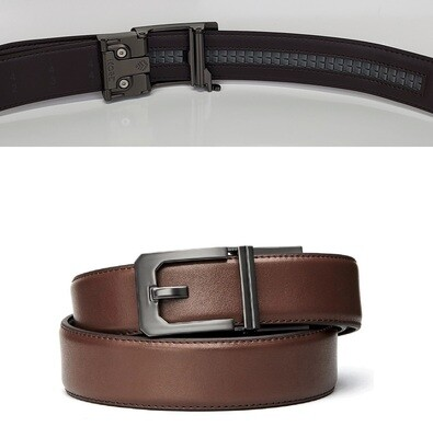 KORE X3 Gunmetal Brown Leather Micro Adjust Belt Size 24