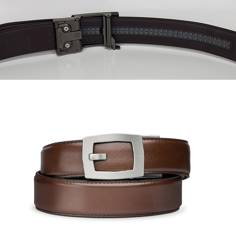 "KORE X8 Brown Leather Micro Adjust Belt Size 24""-44"""
