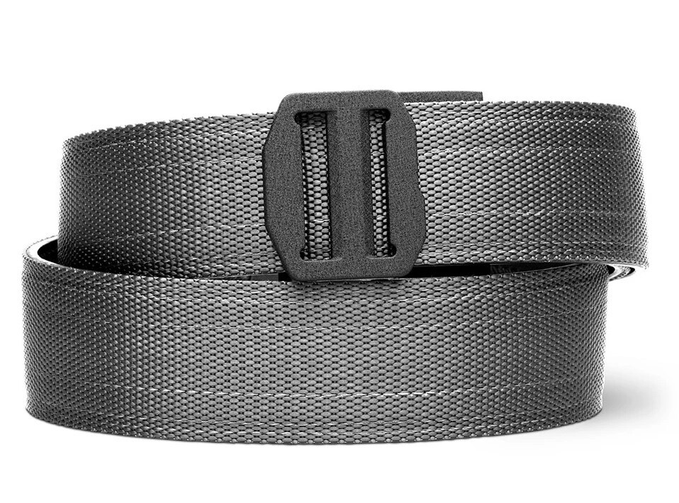 """KORE X7 Gray Tactical Micro Adjust Belt Size 24""""-44"""" with Narrow Buckle for Appendix Carry"""