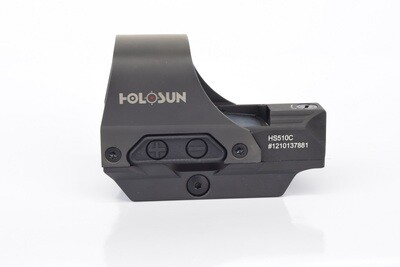Holosun HS510C Open Reflex Solar Powered Red Dot Sight with Shake Awake