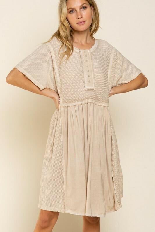 SAND COLOR DRESS