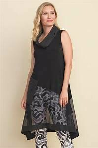LDS TUNIC BLACK WITH OUTER POCKET