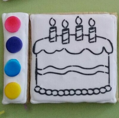 Birthday Cake Paint Your Own Cookie