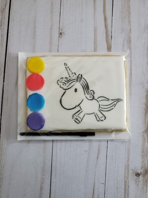 Unicorn Paint Your Own Cookie