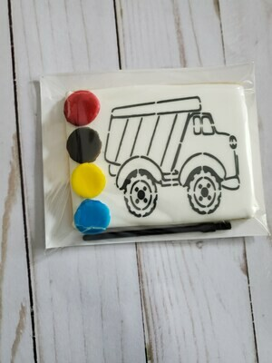 Dump Truck Paint Your Own Cookie
