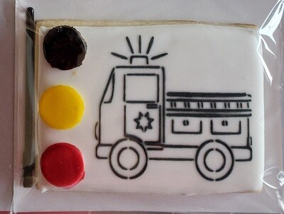 Fire Truck Paint Your Own Cookie