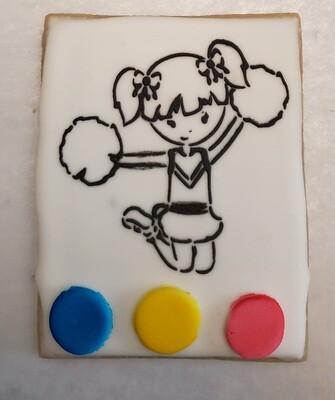 Cheerleader Paint Your Own Cookie